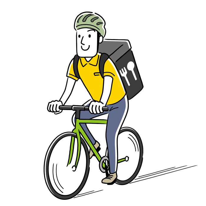 自転車・原付配達員配達員の労災保険特別加入
